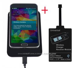 Универсальная зарядка для телефона безпроводная  адаптер.