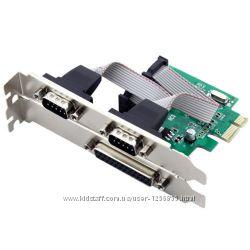 Контроллер PCI-E COM LPT 2 port COM  1 port LPT
