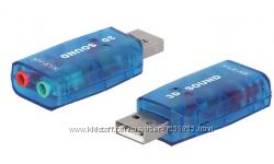 USB звуковая 5. 1 чипсет 6911 аудио адаптер sound для ПК, ноутбука stereo