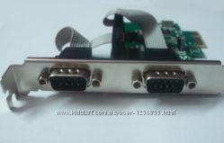 Контроллер PCIE &8213 RS232 2 port COM PCI-E x1 MCS9901CV-CC FG-EMT03A-1