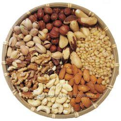 Кедровые орехи, фундук, миндаль, фисташки, кешью-все по 1кг, можно и 200гра