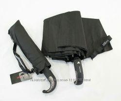 Зонт компактный полуавтомат на 10 карбоновых спиц, антиветер, лёгкий.