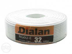 Коаксиальный кабель Dialan RG6U 32W  100м