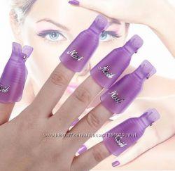 Суперцена Зажимы прищепки клипсы для ногтей для снятия гель лака
