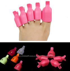Суперцена Зажимы для ногтей ног снятие гель-лака с ногтей ног набор 5 шт.