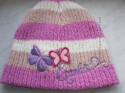 Брэндовая зимняя шапка тм Barbie на 3-5 лет