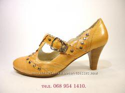 Туфли женские лодочки с ремешком, на устойчивом каблуке. Размер 36-41.