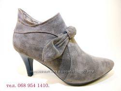 Ботинки-ботильоны женские демисезонные на каблуке, замшевые. Размер 35-40.
