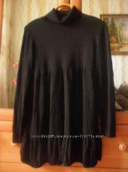 Чёрное туника-платье  H&M р. L.