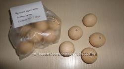 Бусинки Явор, Бук деревянные 34 - 4  мм цена за 1 упаковку