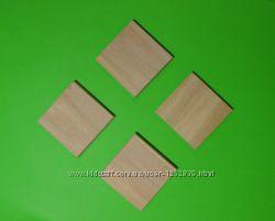 Квадрат деревянный, досточка заготовка-магнит, декор