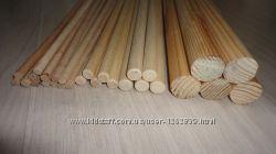 Деревянные палочки круглые от 0.25 до 5 см, для поделок и рукоделия