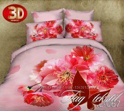 1, 5-спальные комплекты постельного белья ткань Поликоттон 3D