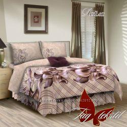 1, 5-спальный комплект постельного белья ткань поплин