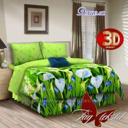 Двуспальный комплект постельного белья ткань Поплин  100 хлопок