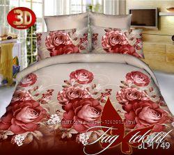 Семейный комплект постельного белья ткань поликоттон