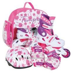 Роликовые коньки раздвижные детские с защитой Tempish Baby UFO