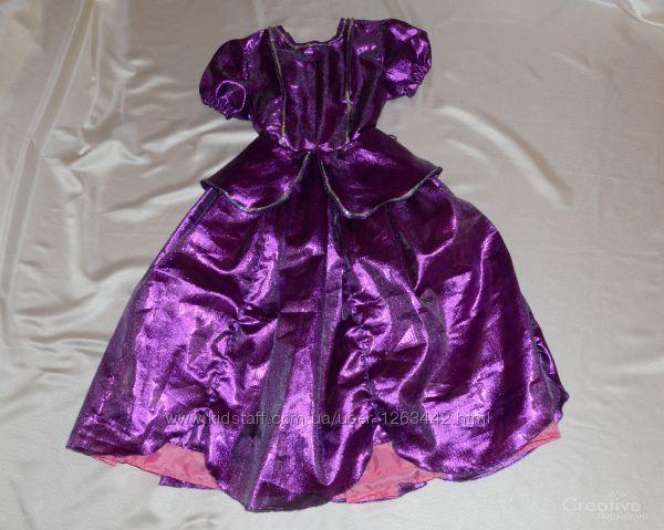 Платье принцессы фиолетовое