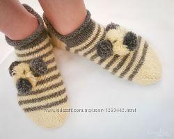 Носки-тапочки с мишками