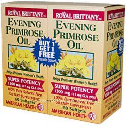 American Health, Royal Brittany, Масло энотеры примулы вечерней, 1300 мг