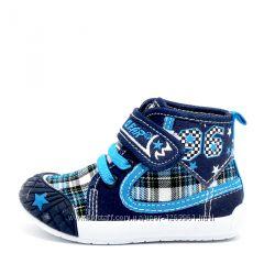 Скидка Детская текстильная обувь. Кеды, тапочки Super Gear для девочки
