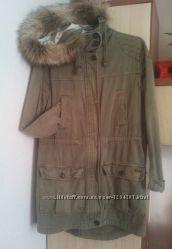 Парка куртка хаки демисезон Pull&Bear
