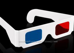 Бумажные 3D очки 3D виртуальный видео.