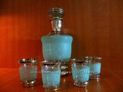 кувшин 2 стакана  хрусталь ссср