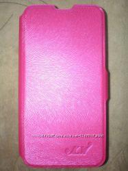 Чехол книжка для Sony Xperia M2 розовый