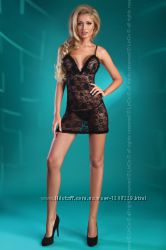 Эротическое белье Сорочка с открытой спиной и фигурными шлейками Livia