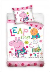 Детский постельний комплект Peppa Pig 100х135