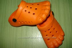 Кроксы детские Пальчики. Оранжевые 25 размер, 14, 5 см.