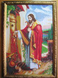 Икона Иисус Христос, вышито, ручная работа