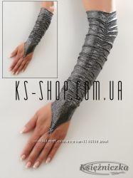 Вечерние перчатки - митенки присобранные -ткань - СУПЕР ДИСКО