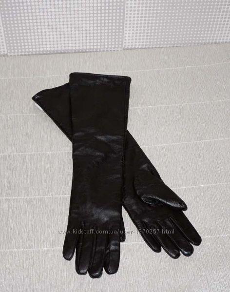 Цена снижена Кожаные длинные перчатки.