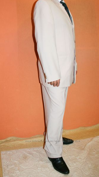 Мужской костюм немецкой фирмы Heine, Super 100, р. 50 с качеством, Woolmark.