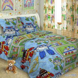 Робокар Поли постельный комплект