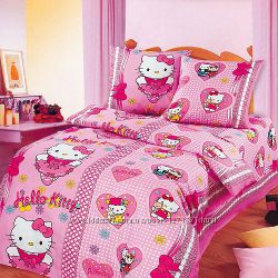 Китти бантики постельный комплект