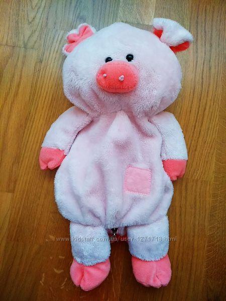 Рюкзак, мягкая игрушка Свинка