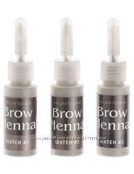 Хна для окрашивания бровей Brow Henna, набор шатен