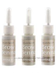 Хна для окрашивания бровей Brow Henna, набор блонд