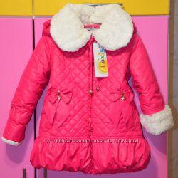 Супер цена Фирменная зимняя теплая стеганная курточка пальто Luxik р 98-104