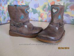 Сапоги Сlarks демисезонные кожаные для девочки 6, 22 размер