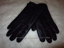 Кожанные теплые перчатки для мужчины