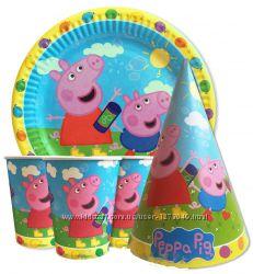 Свинка пеппа посуда для праздника