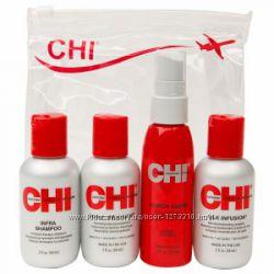Мини-набор-шампунь, кондиционер, шелк для волос, термоспрей CHI Summer SET