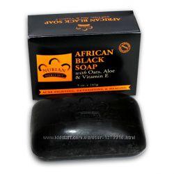 Африканское черное мыло Nubian Heritage - с Алоэ, Витамином Е, Овсом