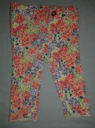Штаны брюки джинсы на девочку скинни флорал