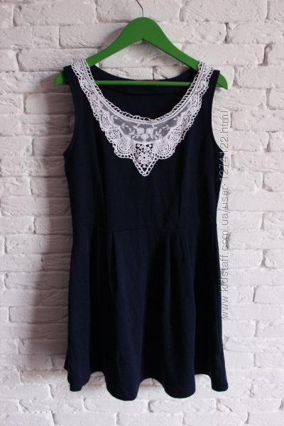Платье новое с кружевной нашивкой Ostin studio