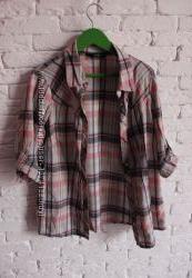 Женская рубашка в клетку F&F